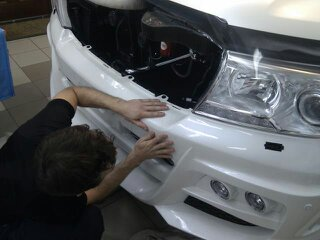 Изготовление лекала (выкройка) на автомобиль с тюнингованным бампером