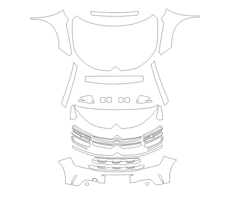 Скачать все лекала в CDR (CorelDRAW). Лекала (выкройка) кузова автомобиля.