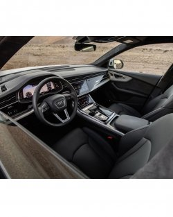 Audi Q8 (2019) S-line  - Изготовление лекала (выкройка) для салона авто. Продажа лекал (выкройки) в электроном виде на салон авто. Нарезка лекал на антигравийной пленке (выкройка) на салон авто.