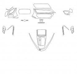 BMW Z4 (2019)  - Изготовление лекала интерьера авто. Продажа лекал (выкройки) в электроном виде на авто. Нарезка лекал на антигравийной пленке (выкройка) на авто.