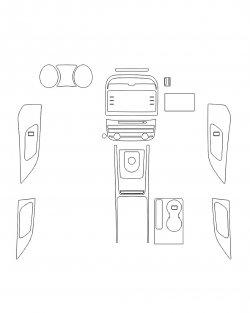 Jaguar F-Pace (2018) - Изготовление лекала интерьера авто. Продажа лекал (выкройки) в электроном виде на авто. Нарезка лекал на антигравийной пленке (выкройка) на авто.