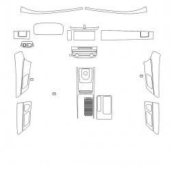 Jaguar XF (2018)  - Изготовление лекала интерьера авто. Продажа лекал (выкройки) в электроном виде на авто. Нарезка лекал на антигравийной пленке (выкройка) на авто.