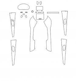 Kia Sorento Prime (2018) - Изготовление лекала интерьера авто. Продажа лекал (выкройки) в электроном виде на авто. Нарезка лекал на антигравийной пленке (выкройка) на авто.