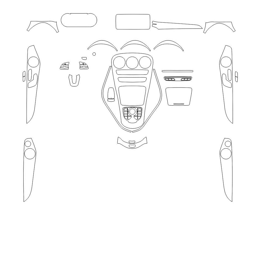 Изготовление лекала интерьера авто. Продажа лекал (выкройки) в электроном виде на авто. Нарезка лекал на антигравийной пленке (выкройка) на авто.