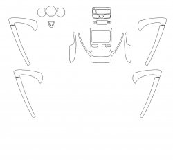 Nissan Terrano (2017)  - Изготовление лекала интерьера авто. Продажа лекал (выкройки) в электроном виде на авто. Нарезка лекал на антигравийной пленке (выкройка) на авто.
