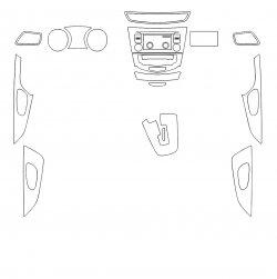 Nissan X-trail (2018)  - Изготовление лекала интерьера авто. Продажа лекал (выкройки) в электроном виде на авто. Нарезка лекал на антигравийной пленке (выкройка) на авто.