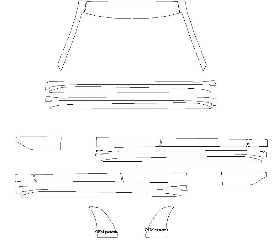 Изготовление лекала (выкройка) на авто