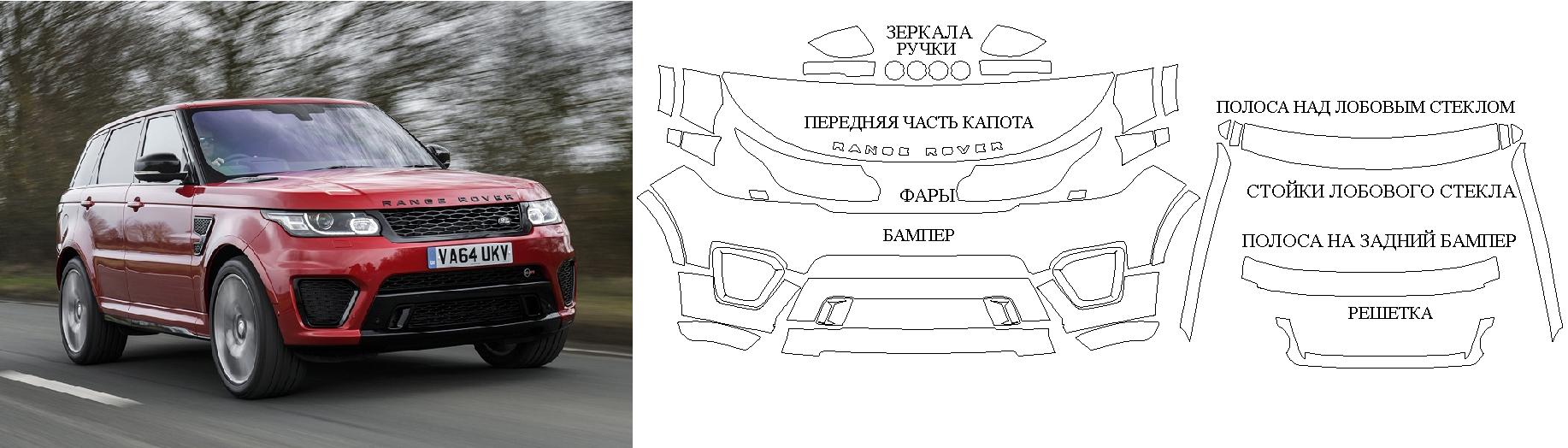Лекало на Range Rover Sport 2015