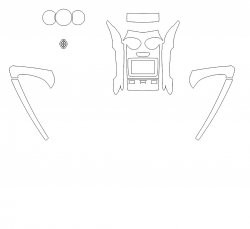 Renault Duster (2018) - Изготовление лекала интерьера авто. Продажа лекал (выкройки) в электроном виде на авто. Нарезка лекал на антигравийной пленке (выкройка) на авто.