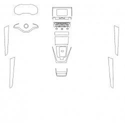 Skoda Karoq (2020)  - Изготовление лекала интерьера авто. Продажа лекал (выкройки) в электроном виде на авто. Нарезка лекал на антигравийной пленке (выкройка) на авто.