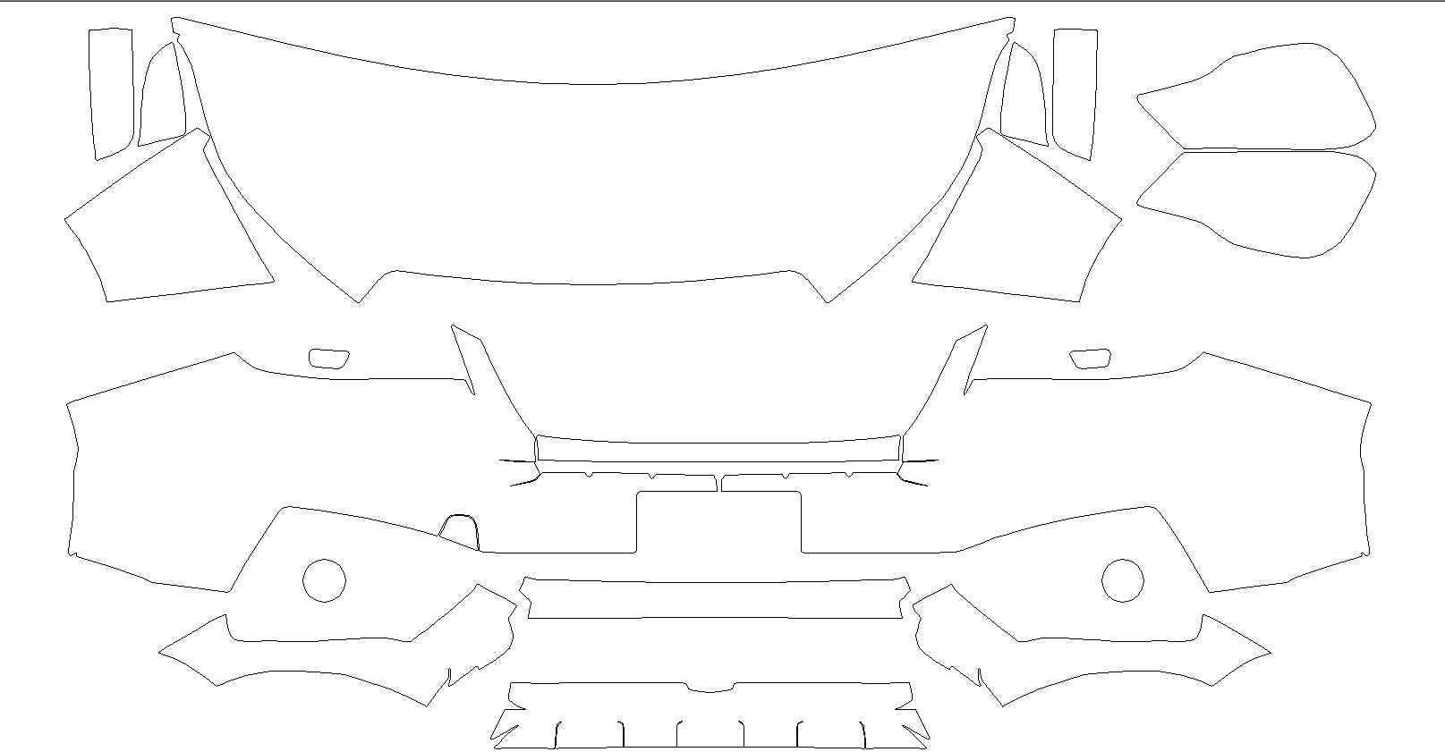 В продаже и в работе лекало на Subaru Forester 2016 г.