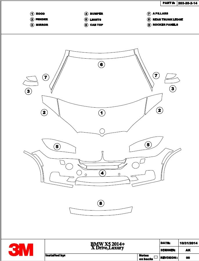 Программа для нарезки лекал (выкройка) антигравийной защитной пленки на автомобили 3M Pattern and Solutions Center
