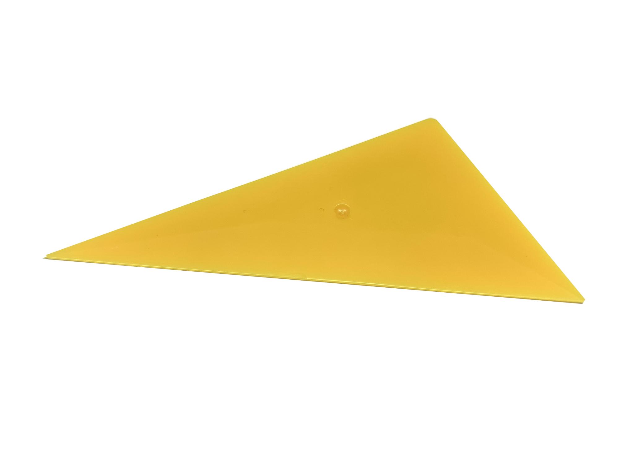 Желтый ракель треугольный